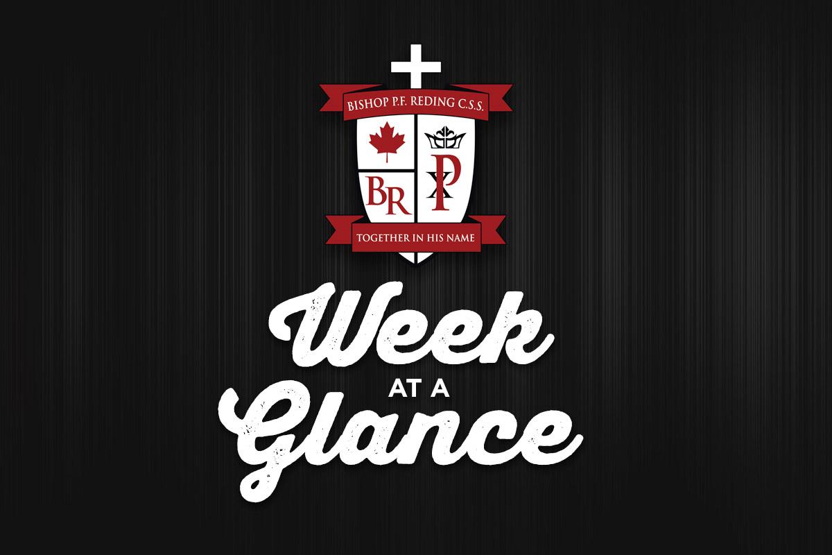 Week at a Glance Feb 10-14, 2020