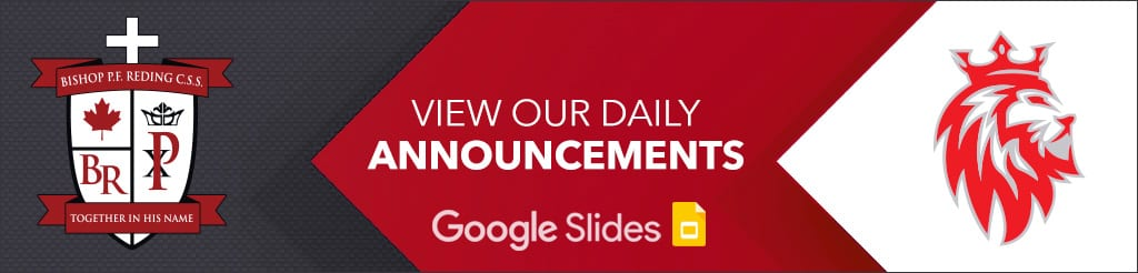 View our Daily Announcements - Google Slides