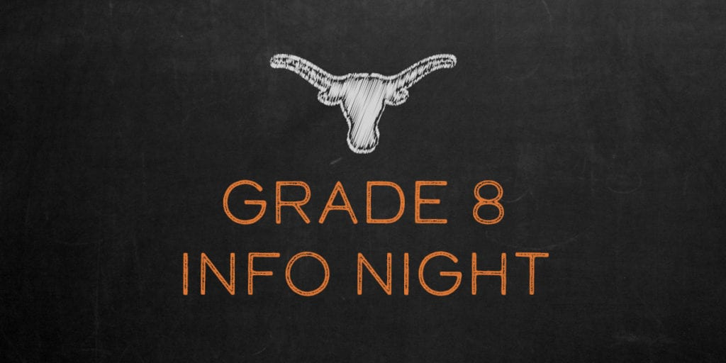 Virtual Grade Eight Information Night