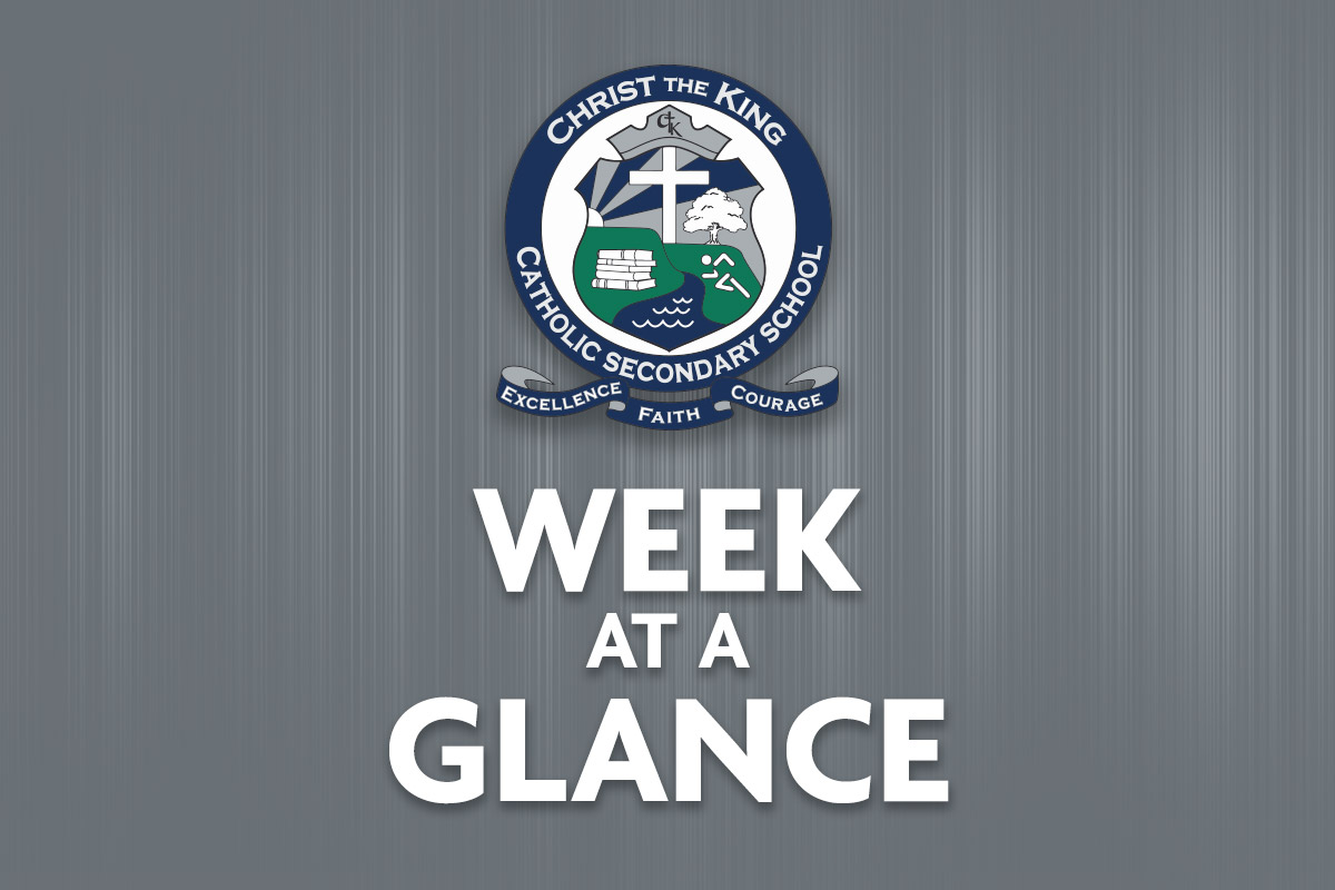 Week at Glance – Sept  28 – Oct 2