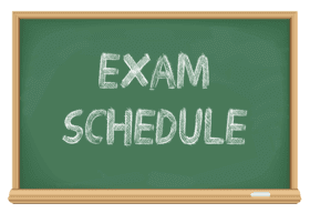 January 2020 Exam Schedule