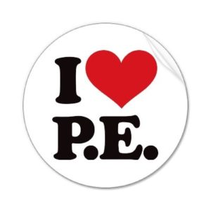i love PE graphic