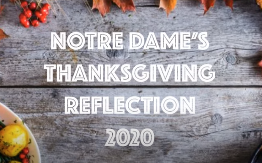 Thanksgiving Reflection from Notre Dame
