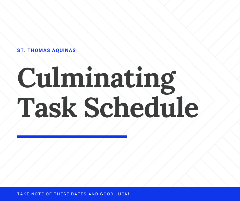 Culminating Task Schedule