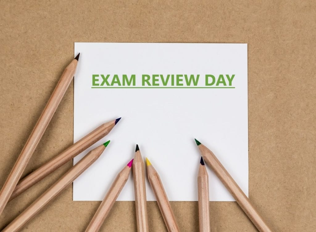 Exam Review Day Schedule – January 30 2020