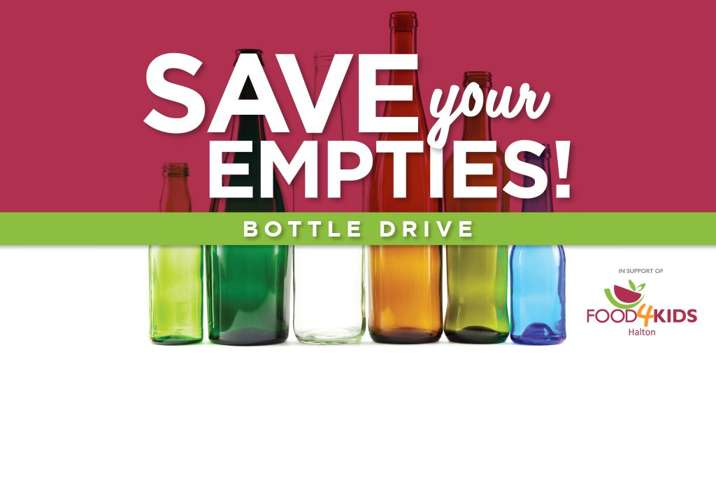 Donate Your Empty Bottles to Food4Kids Halton!