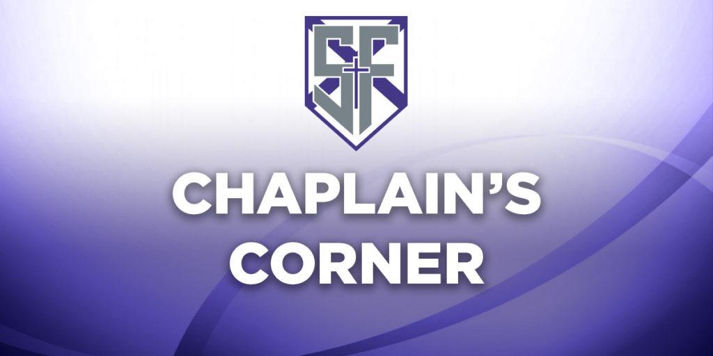 Chaplain's Corner